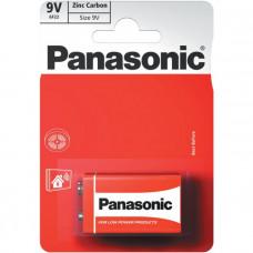 Батарейка PANASONIC 6F22 / 1BL Zinc Carbon.Крона*1BL  Сольові